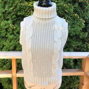 Kendall and Kylie chunky cable knit turtleneck
